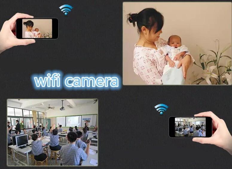 WiFi P2P מצלמה מיני מצלמות DVR Md81 ספורט אלחוטיות DV IP מצלמת אינטרנט wifi המצלמה להקליט וידאו 720*480 זיהוי תנועה