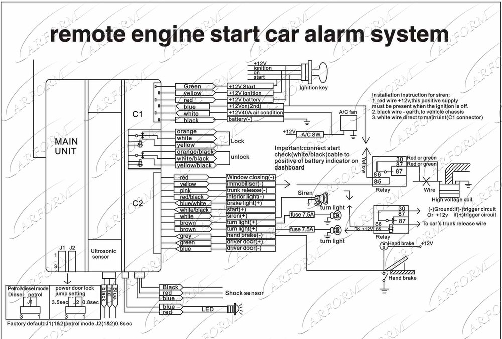 viper 4105v remote start wiring diagrams