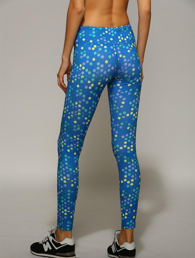 Woman Custom Printed Nylon Sports Gym Yoga Pantyhose