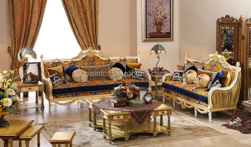 Great British Retro Royal Furniture, Living Room Gold