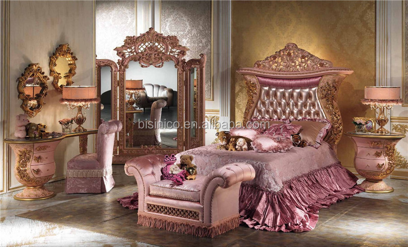 Italian Luxury Design Children Bedroom Furniture Set Elegant Pink     IMPERIAL 016 jpg