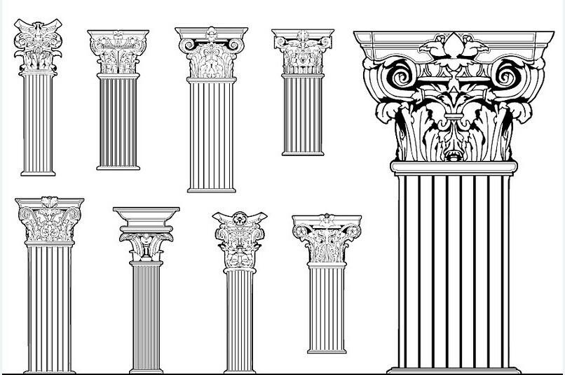 Dcorative Colonne Romaine Vendre Dcoration Extrieure