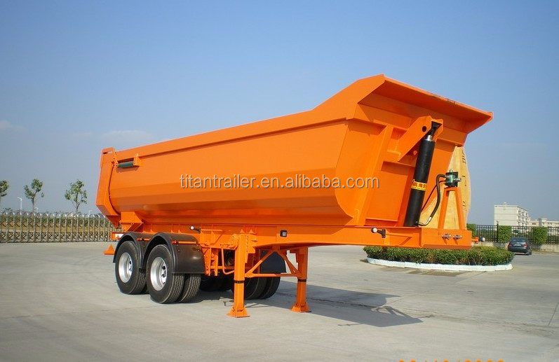 China HYVA Cylinder End Tipper Truck Trailer Rear Dump Tipper Truck Trailer Side Tipping Truck Trailer
