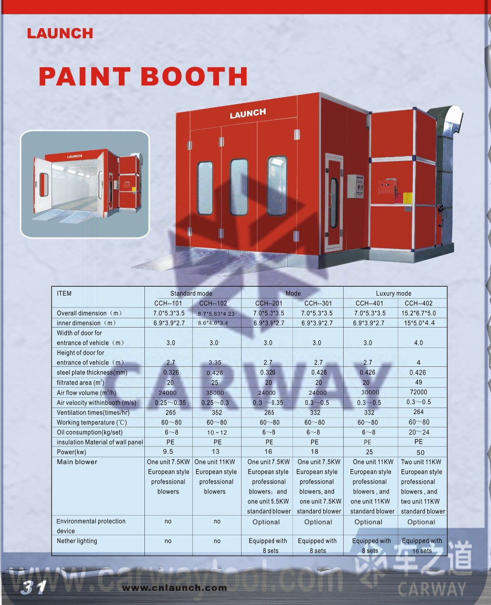 Launch Cch 102 Economic Large Minibus Spray Painting Booth Furniture Paint Booth Car Baking Oven
