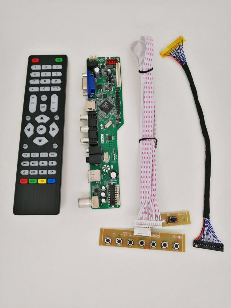 T V56 Universal LED TV Driver Board with LVDS cable/ keypad With