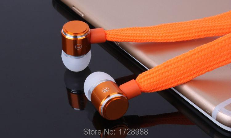 ספורט אוזניות אוזניות סטריאו בדיבורית מתכת אוזניות עם מיקרופון 3.5 מ
