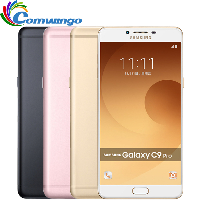 2016 Original Samsung Galaxy C9 Pro C9000 4G LTE mobile phone Octa core Android6.0 6GB RAM 64GB ROM 16MP Camera 6'' Cell Phone