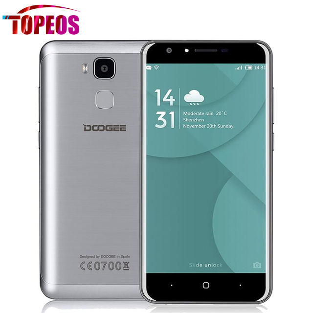 DOOGEE Y6C 4G LTE Mobile Phone 5.5 inch Android 6.0 MTK6737 Quad Core 2GB RAM 16GB ROM 3200mAh OTA Dual Camera 13MP Fingerprint