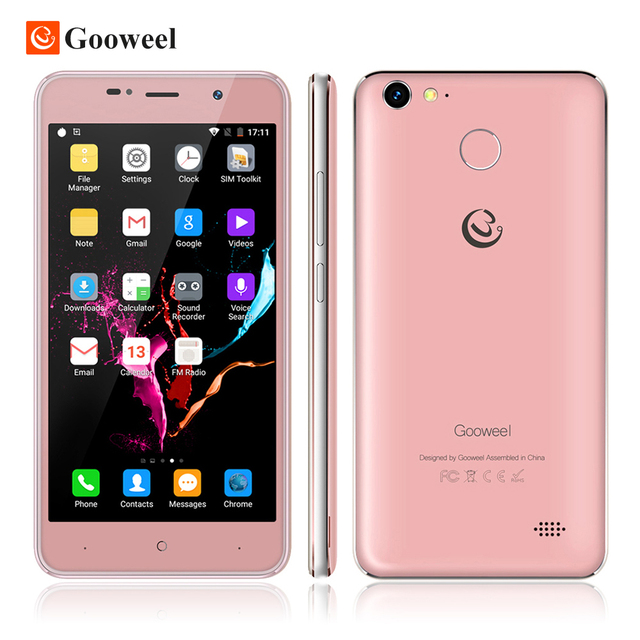Gooweel M15 4G mobile phone Fingerprint ID MTK6737 Quad core 5.0 inch IPS Android 6.0 smartphone 2GB+16GB Cell phone Free Case