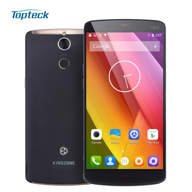 "KINGZONE Z1 Plus 4G 5.5"" Smartphone Android 5.1 Octa Core MTK6753 Cellphone 2GB+16GB 13MP Fingerprint OTG 3500mAh Mobile Phone"