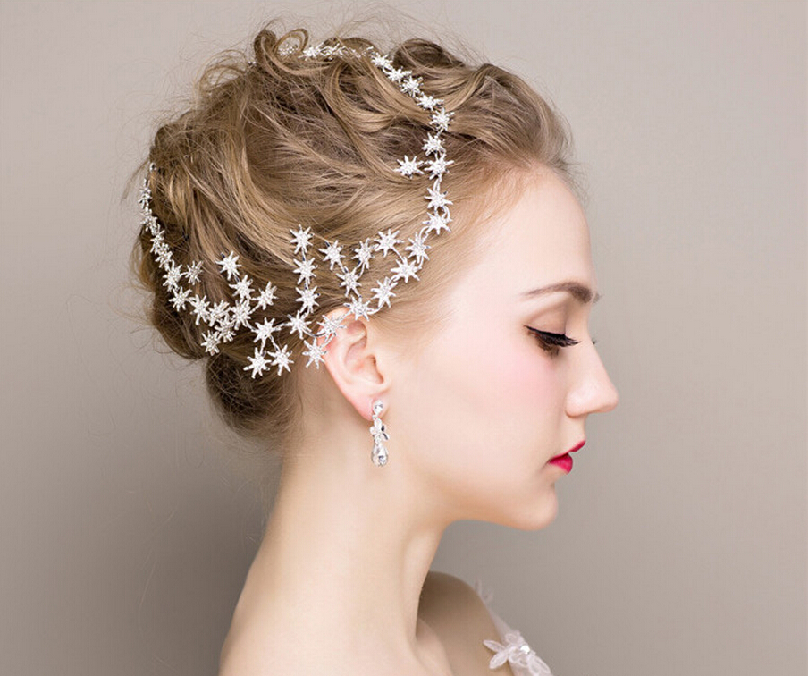 Party Hair Accessories Fashion Bridal Hair Jewelry Crystal