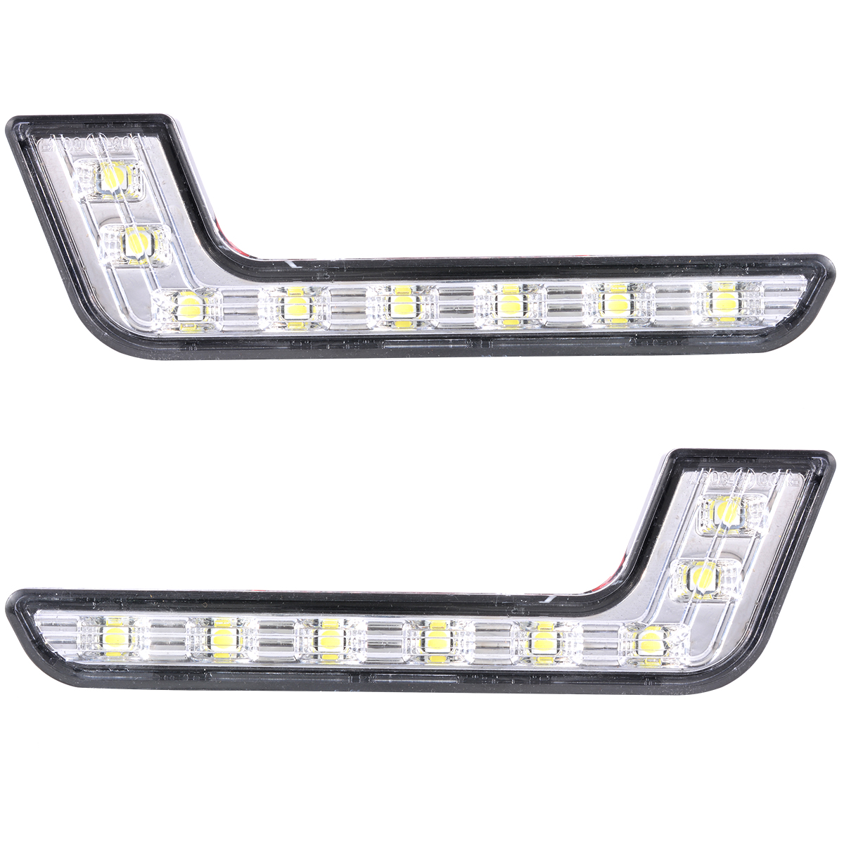 2x K Car Daytime Running Drl Bright Driving Day Light Head Lamp 8 Led White