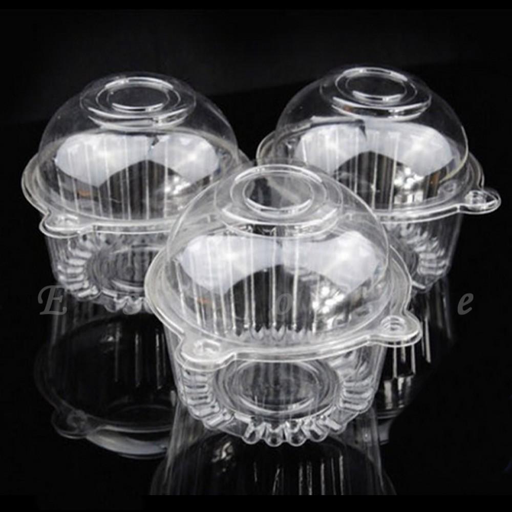 Baru 100 Pcs Batal Plastik Tunggal Cupcake Kue Kasus Muffin Dome Peeredam Guncangan Motor Smash Titan Ukuran 15cm Sepasang Getsubject Aeproduct