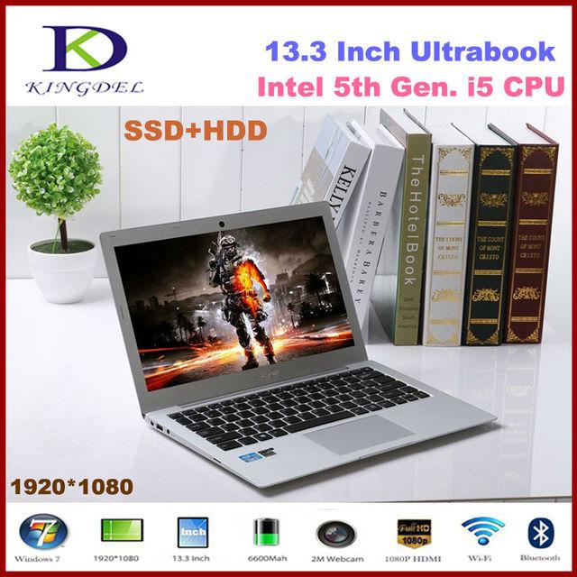 """13.3 """"Full HD 1920*1080 Экран Core i5 Ноутбук 8 ГБ DDR3 64 ГБ NGFF SSD + 500 ГБ HDD Windows 10 Ноутбука HDMI USB 3.0 wi-fi"""