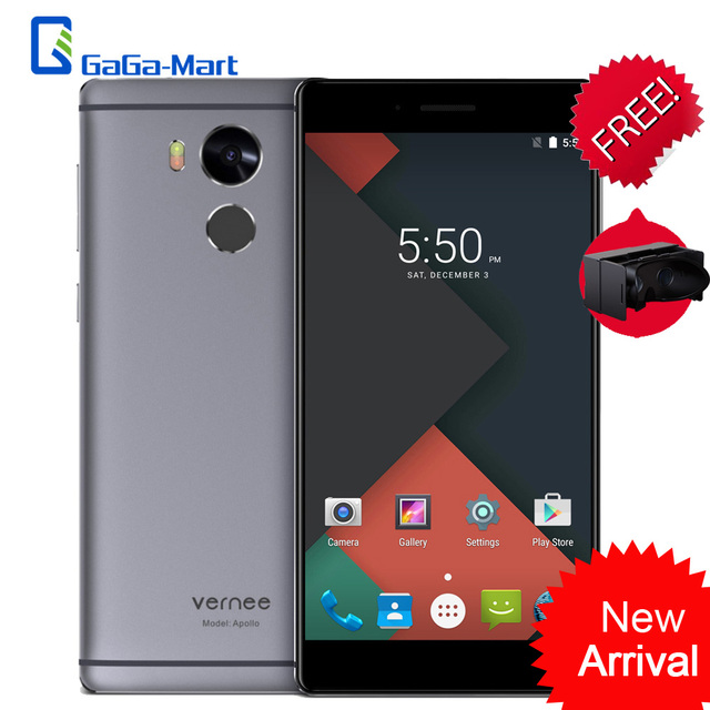 "Original Vernee Apollo 4G Mobile Phone MTK6797T Deca Core 4G+64G 2560*1440p 8MP 21MP 2K Screen 5.5"" Inch Fingerprint Smartphone"