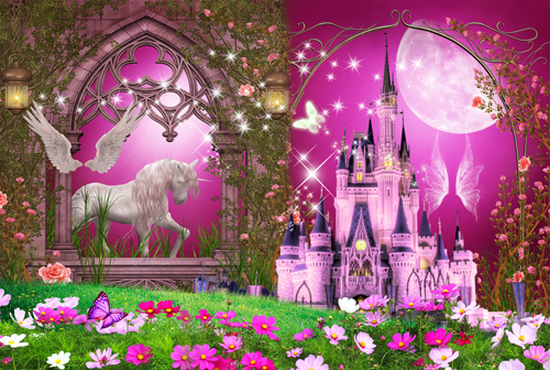 1pcs Fairy Tale Princess Wall Sticker Decals Wallpaper Kindergarten Bedroom Decoration Nursery Party House Home