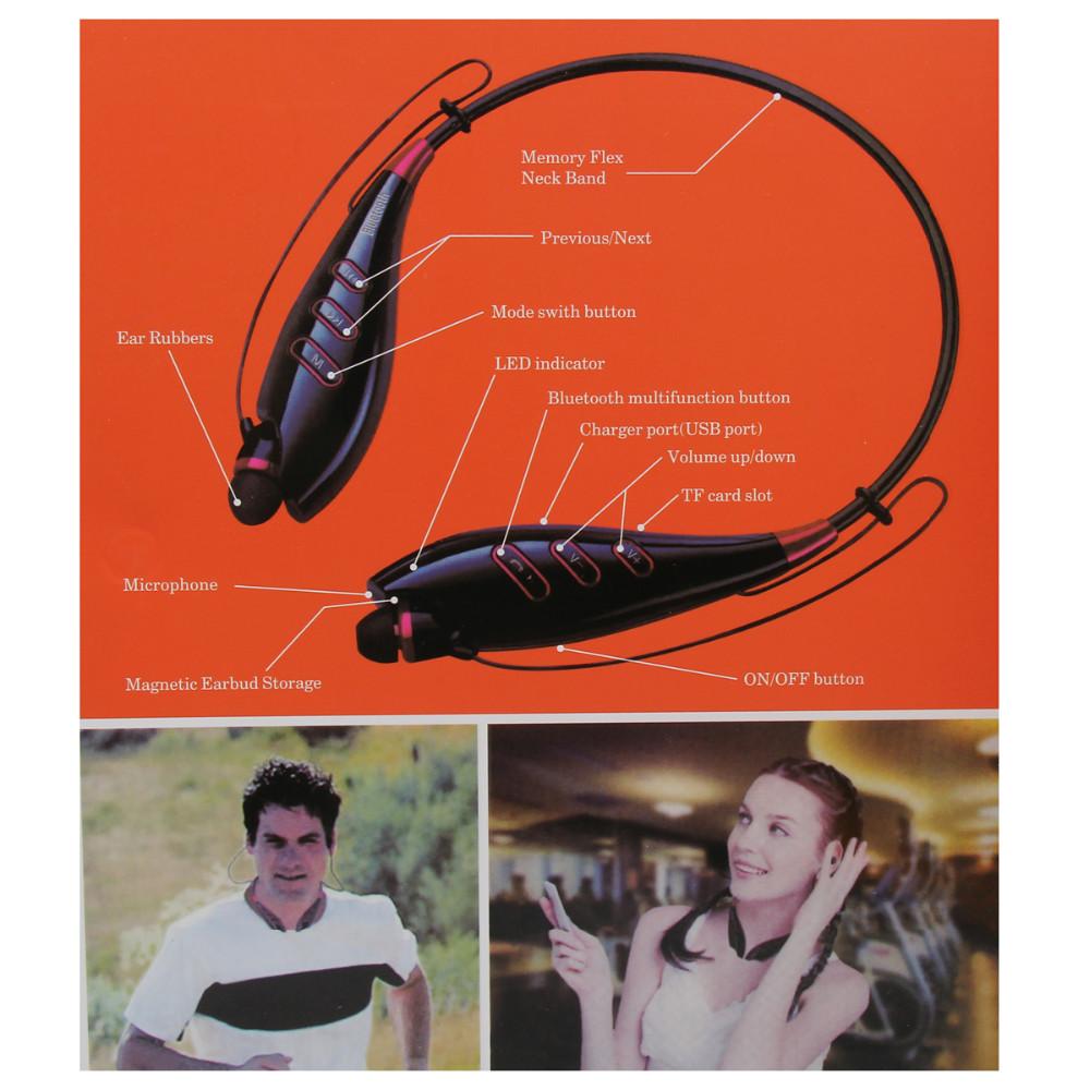S740T יוקרה זהב אוניברסלי אלחוטי Neckband דיבורית Bluetooth V4.0 Aptx ספורט אוזניות סטריאו אוזניות כרטיס TF תמיכה