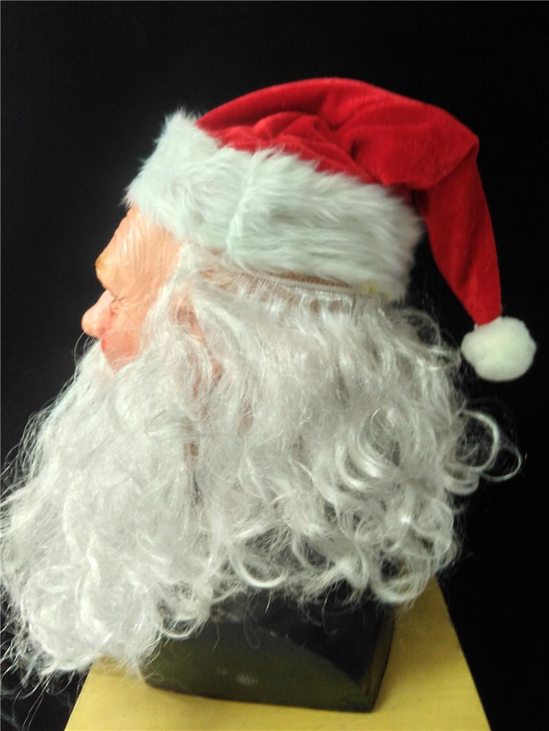 ⊰Natal Cosplay Kostum Lateks Masker dengan Natal Topi Santa Claus ... 77c10f7e85