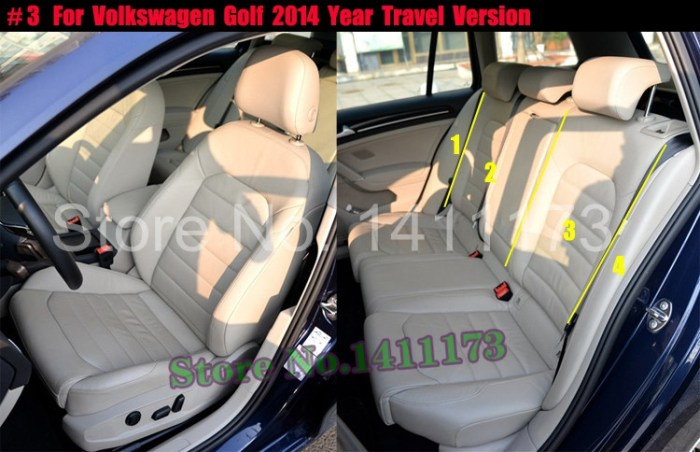 Decorative Cushion Covers For Volkswagen Golf Seat Custom