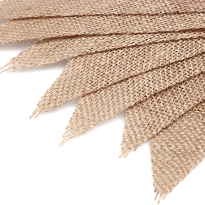 3m Vintage Jute Rope Hessian Burlap Banner Bunting Pennant Party Wedding Decoration Ornoments 13 Flags Photography Props