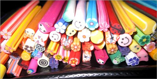 Fashion Nail Art Fruit And Flower Decoration Slice Rod Stick Cane Diy Designs