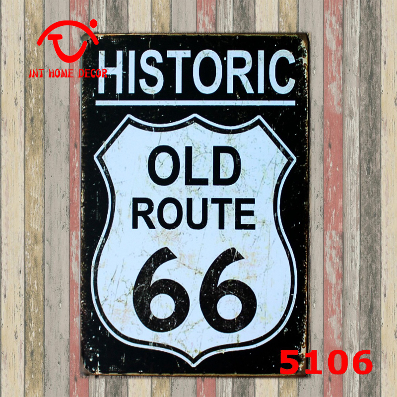 HISTORIC OLD ROUTE 66 Tin Signs Wholesale Vintage Decor ...