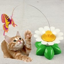 Electric Rotating butterfly funny cat toys electri...