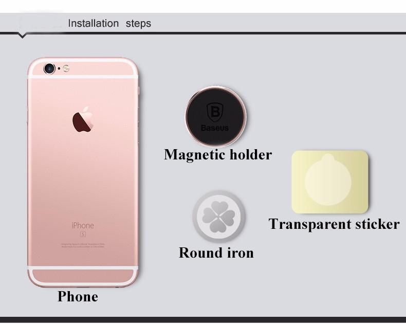 Baseus מגנטי אוניברסלי לרכב בטלפון נייד בעל אוורור הר לעמוד הרציף רכב מגנטי בעל טלפון טלפון בעל לעמוד
