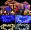 80LED Christmas Lights Outdoor Curtain Led String Lights LED Lights Decoration Llight String Outdoor Lighting Meteor Shower Rain