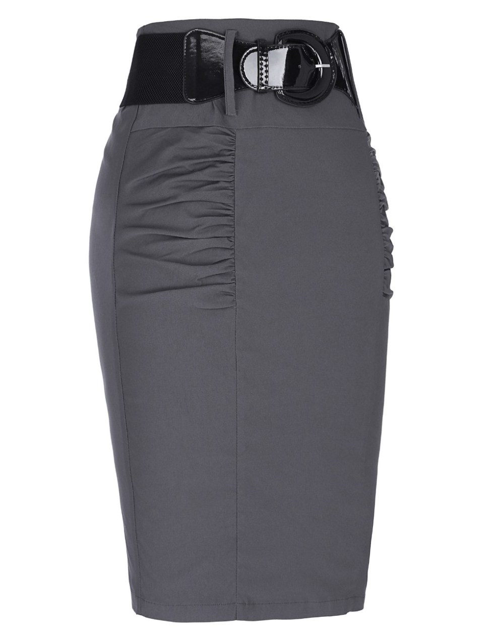 2017 New Sexy Pencil Skirts Womens Business Work Office Skirt With Belt High Waist Elastic Casual Bodycon Slim Fit Ladies Skirts
