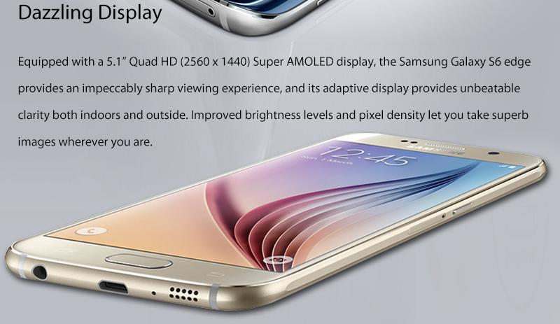 מקורי Samsung Galaxy S6 G920F G925F קצה 5.1
