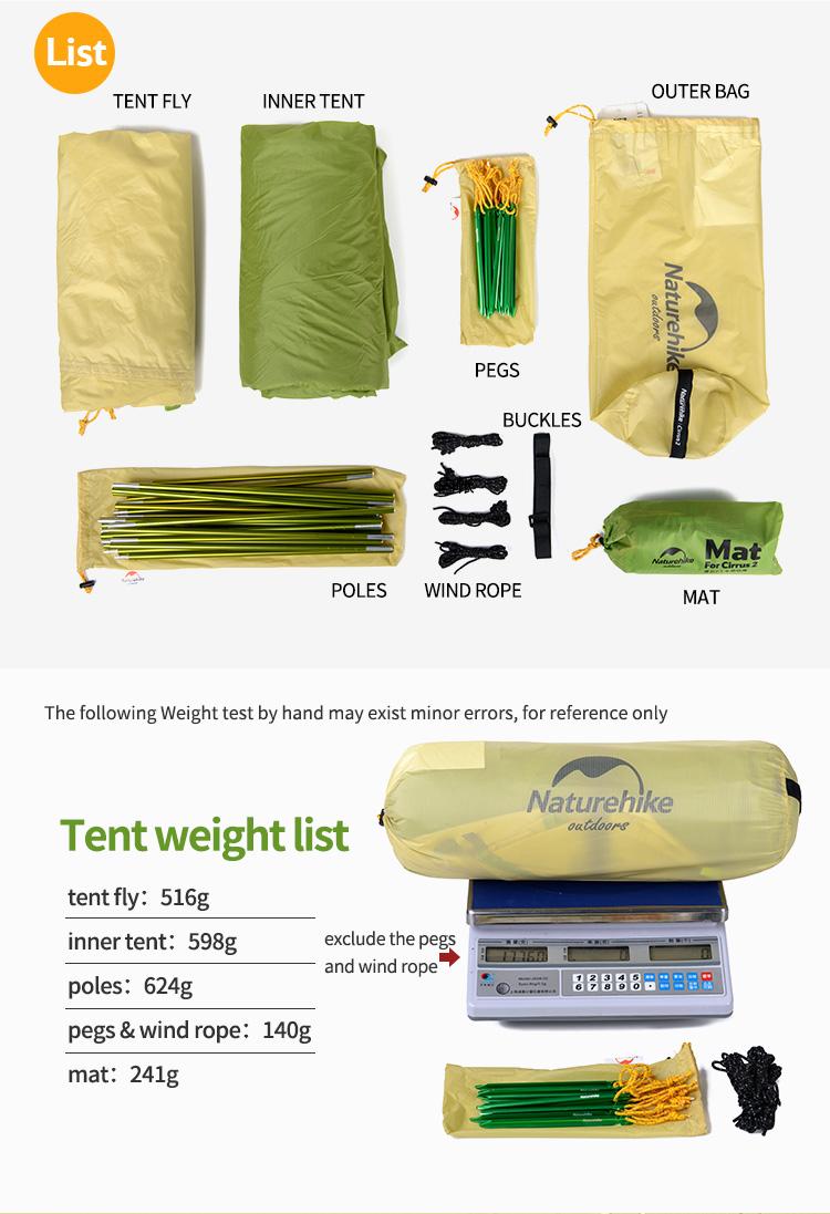 Baru Kedatangan Naturehike Tenda Berkemah 2 Orang Waterproof Dewalt Dc750ka Mesin Bor Baterai 02 03