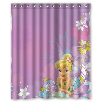 Waterproof Polyester Tinkerbell Shower Curtain 60 X 72 With Latest Design