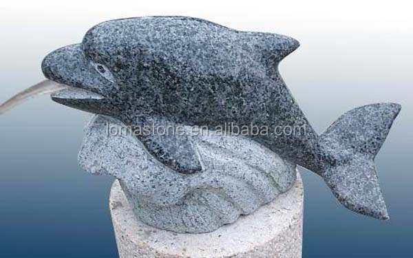 Pierre Sculpt Animaux Dolphin Mini Fontaine Jardin Mini