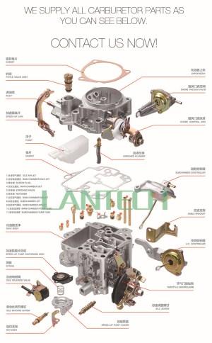 Carburador para Suzuki F8A 462Q LDH107 motor 1320079250CarburadoresID do produto:60267218378