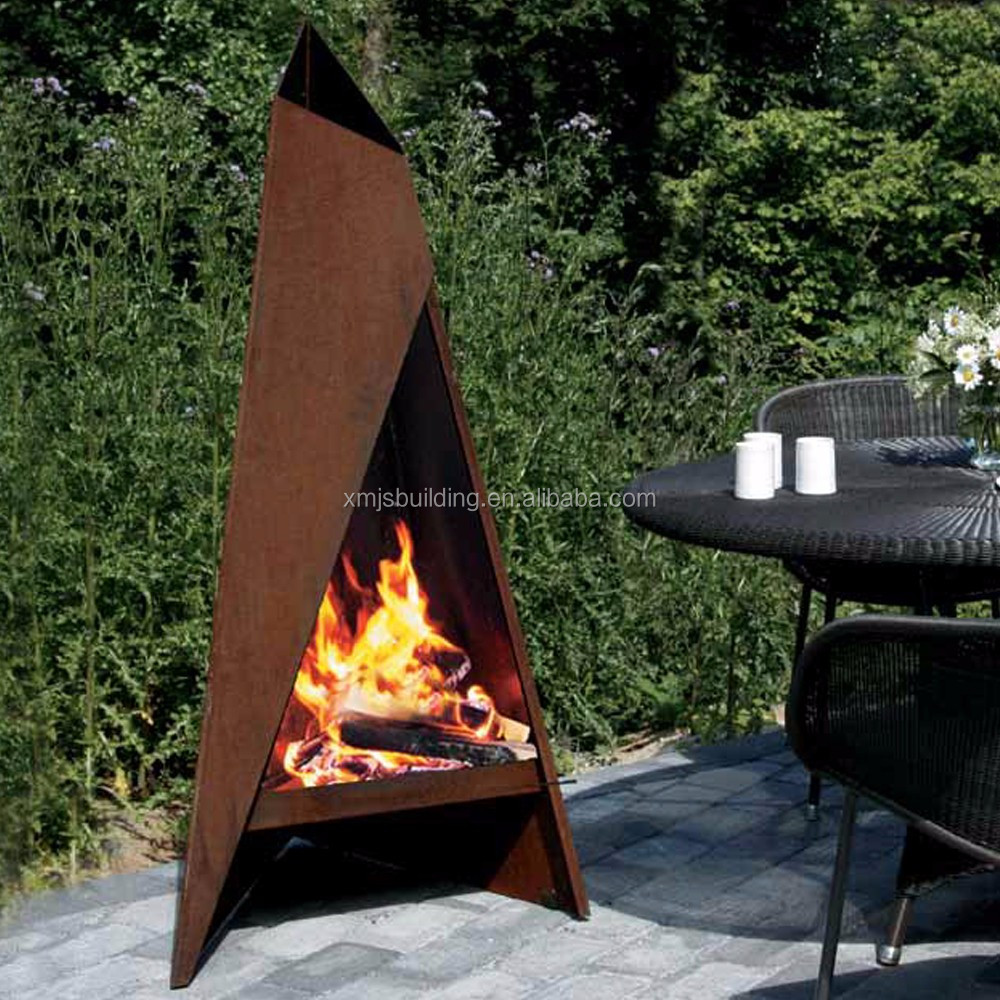 Outoor Decoration Corten Steel Fire Pit - Buy Corten Steel ... on Quillen Steel Outdoor Fireplace id=68533
