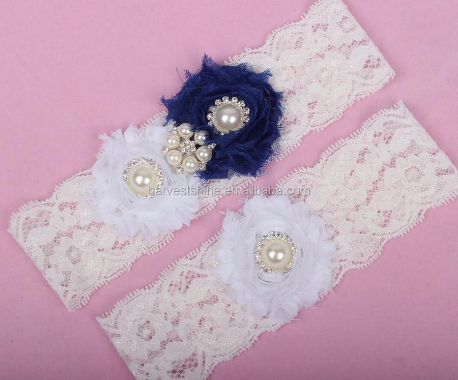Soft White Elastic Lace Garter Belt,Wedding Bridal Garters