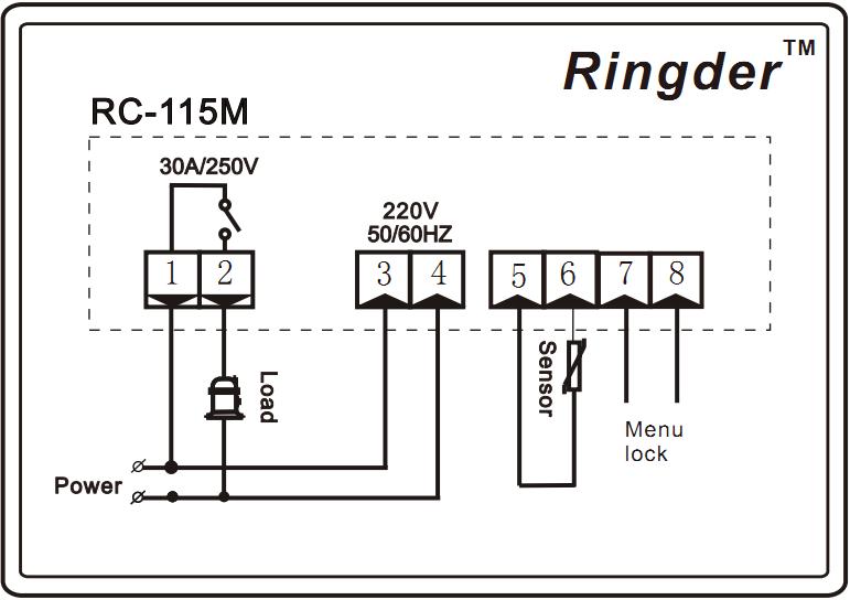 Ringder Rc-115m Digital Boiler / Water Heater Temperature