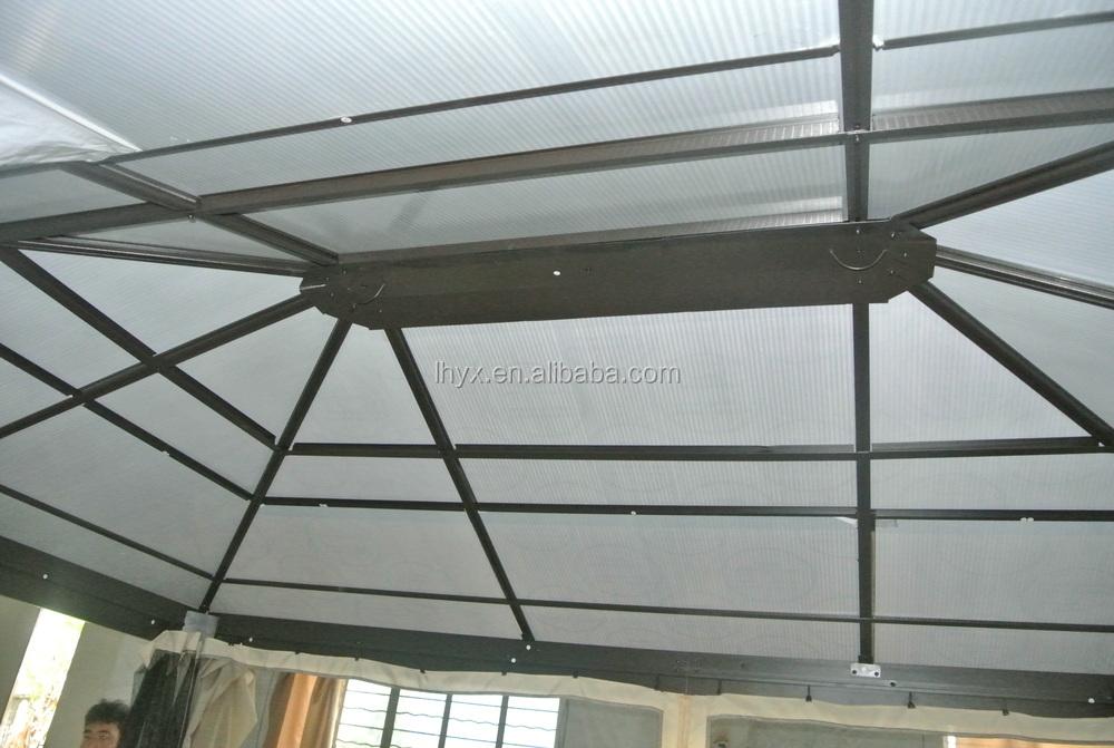 Deluxe Patio Gazebo Avec Polycarbonate Toit En Aluminium