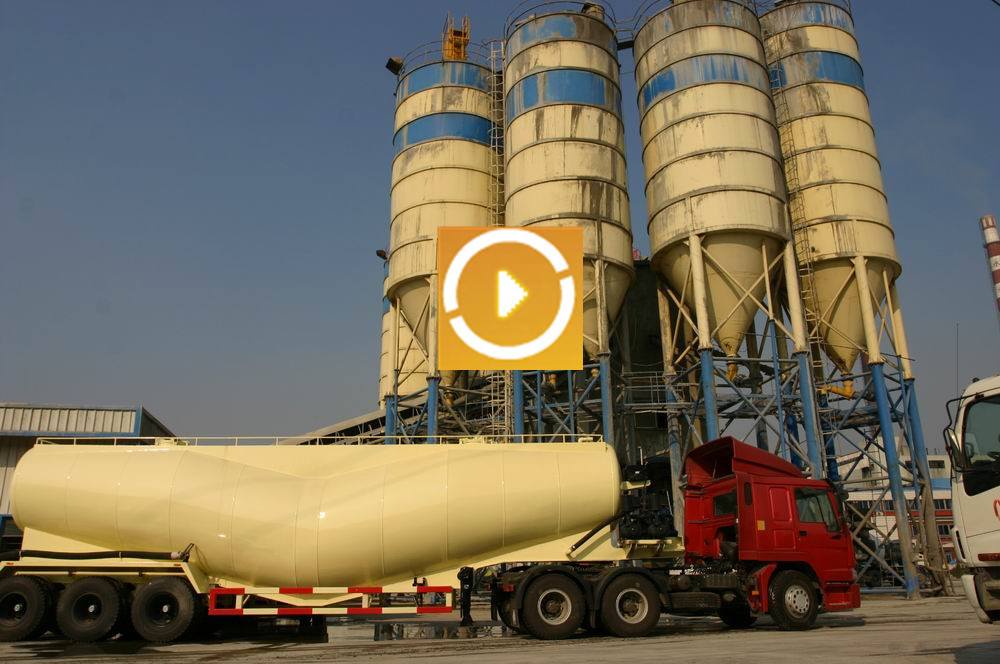 Tri-axle v type silo bulk cement tank semi trailer, dry bulk cement transport semi-trailer for sale
