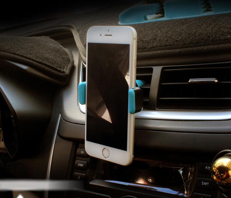 יוקרה מחזיק טלפון אוניברסלי סטנד מתכוונן 360 אוורור הר GPS לרכב בטלפון נייד מחזיק אייפון 7 5s 6s Plus Xiaomi