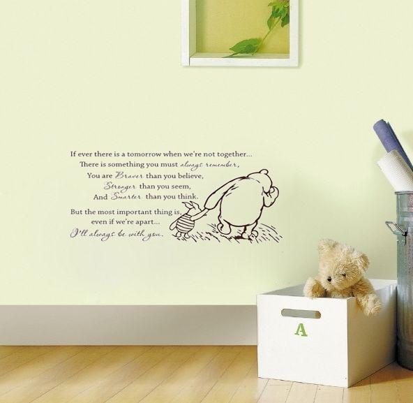 Clic Winnie Adventure Wall Decals Vinyl Stickers Home Decor Nursery Decal