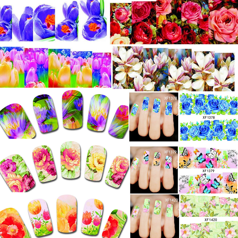 Nail Sticker Diy Beauty Flower For Nails
