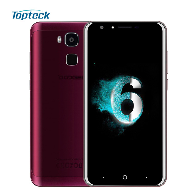 """DOOGEE Y6 4G LTE 5.5"""" HD Fingerprint Smartphone Android 6.0 MTK6750 Octa Core Cellphone 2GB + 16GB 13MP 8MP 3200mAh Mobile Phone"""