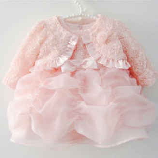 Baby Girl Dress Baptism Christening Gown for Infant Girl Pink Princess Dresses Lace Party Dress Newborn 1 Year Birthday Dress(China (Mainland))
