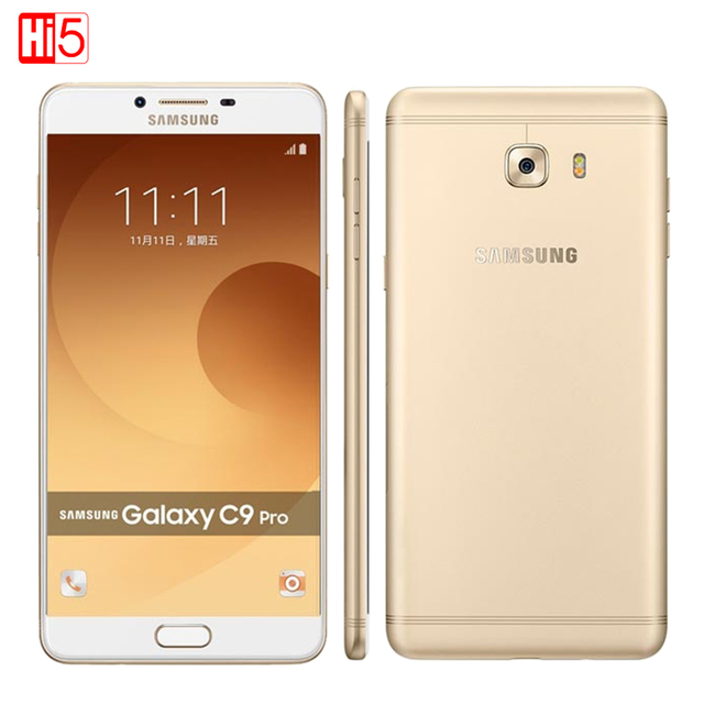 Original Samsung Galaxy C9 Pro C9000 Dual SIM Qualcomm Snapdragon Octa core 6'' 6GB RAM 64GB ROM 16MP Android6.0 Mobile Phone