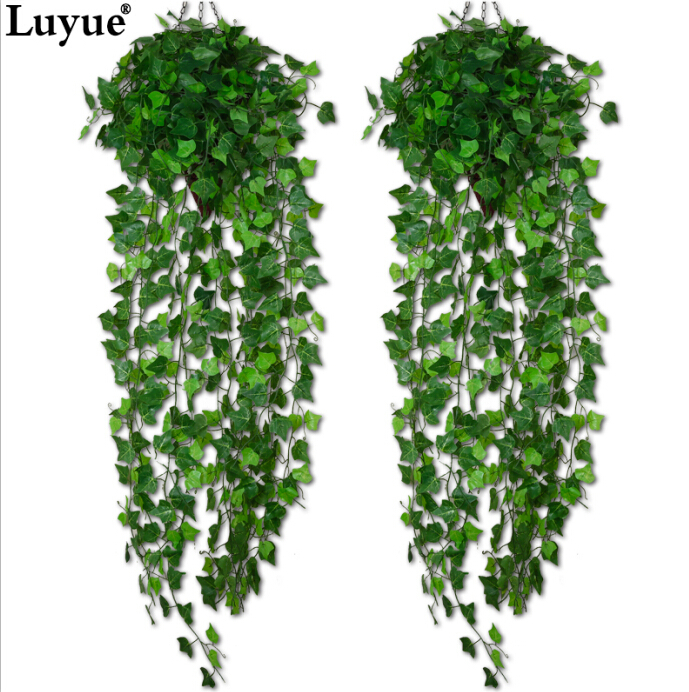 Luyue 1 Piece Artificial Ivy Leaf Garland Plants Vine Fake