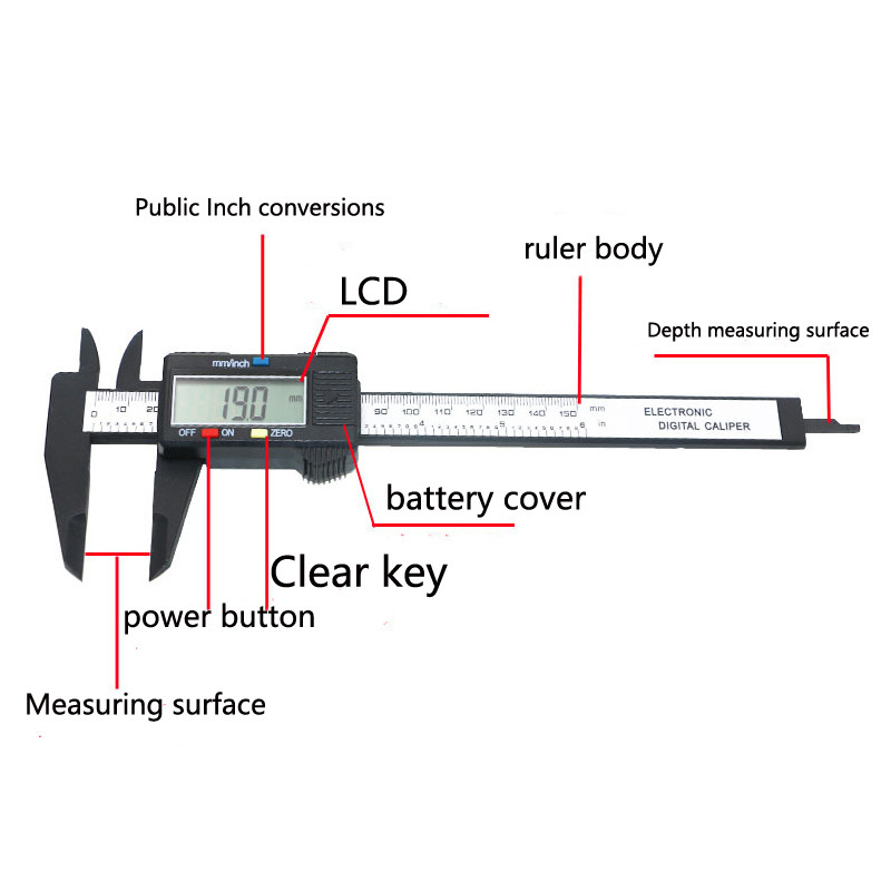Mitutoyo Electronic Caliper Parts