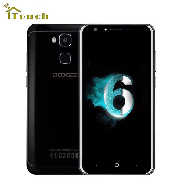 "Doogee Y6 PIANO Black 4G LTE Smartphone 3200mah 5.5"" Android 6.0 MTK6750 Octa core 4G RAM 64GB ROM Fingerprint 13MP Mobile Phone"