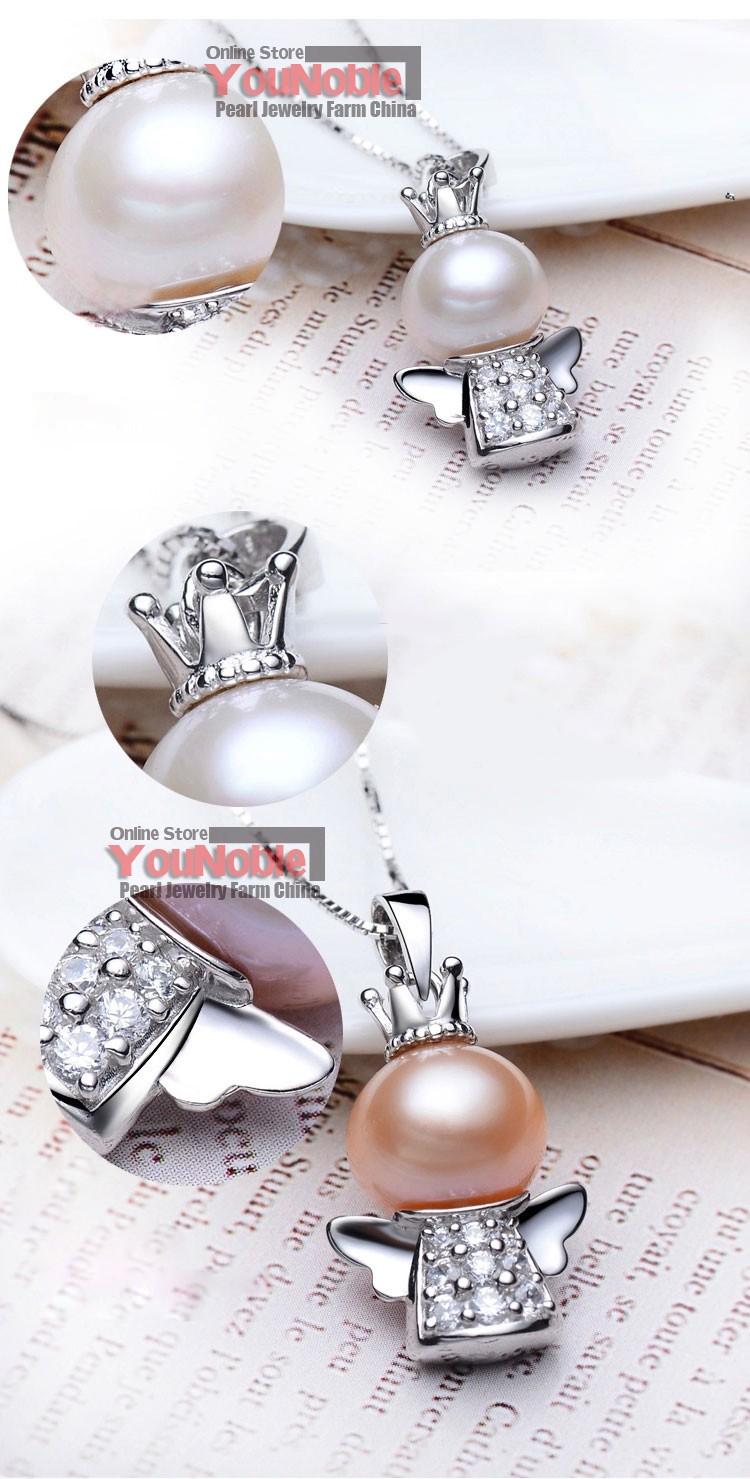 Nyata Indah Mutiara Air Tawar Pendant 925 Perak Pernikahan Gadis Baju Pria Minion Stuart Koboi Kelas Aaa Grade